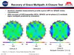 recovery of grace multipath a closure test