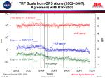 trf scale from gps alone 2002 2007 agreement with itrf2005