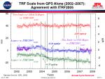 trf scale from gps alone 2002 2007 agreement with itrf200514