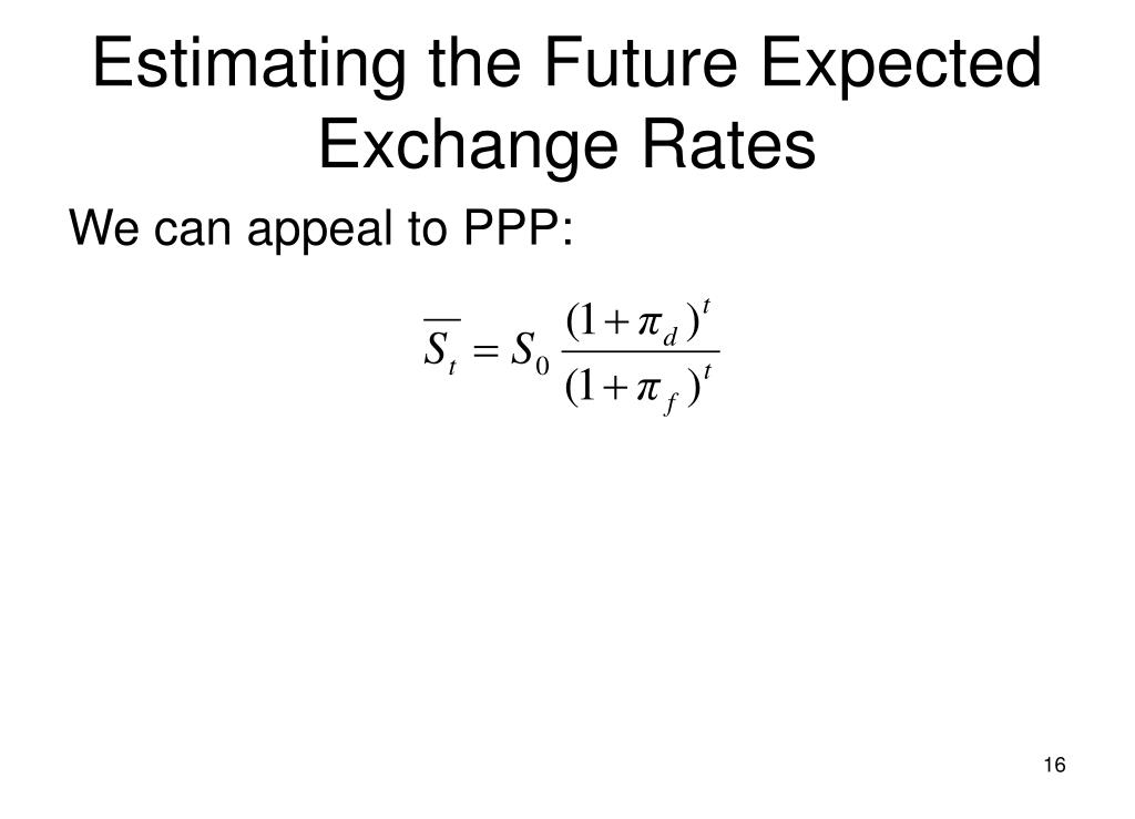 Estimating the Future Expected Exchange Rates