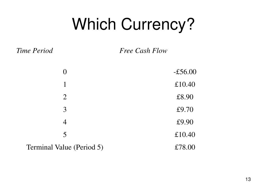 Which Currency?