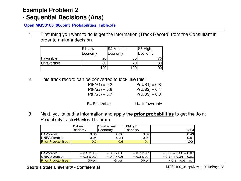 Example Problem 2