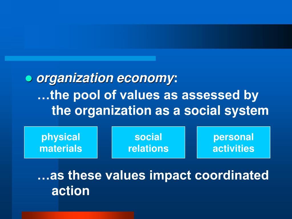organization economy