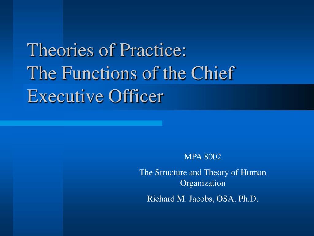 Theories of Practice:
