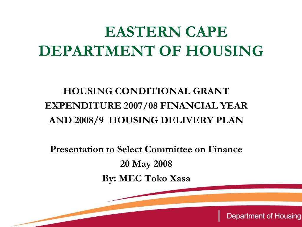 eastern cape department of housing l.