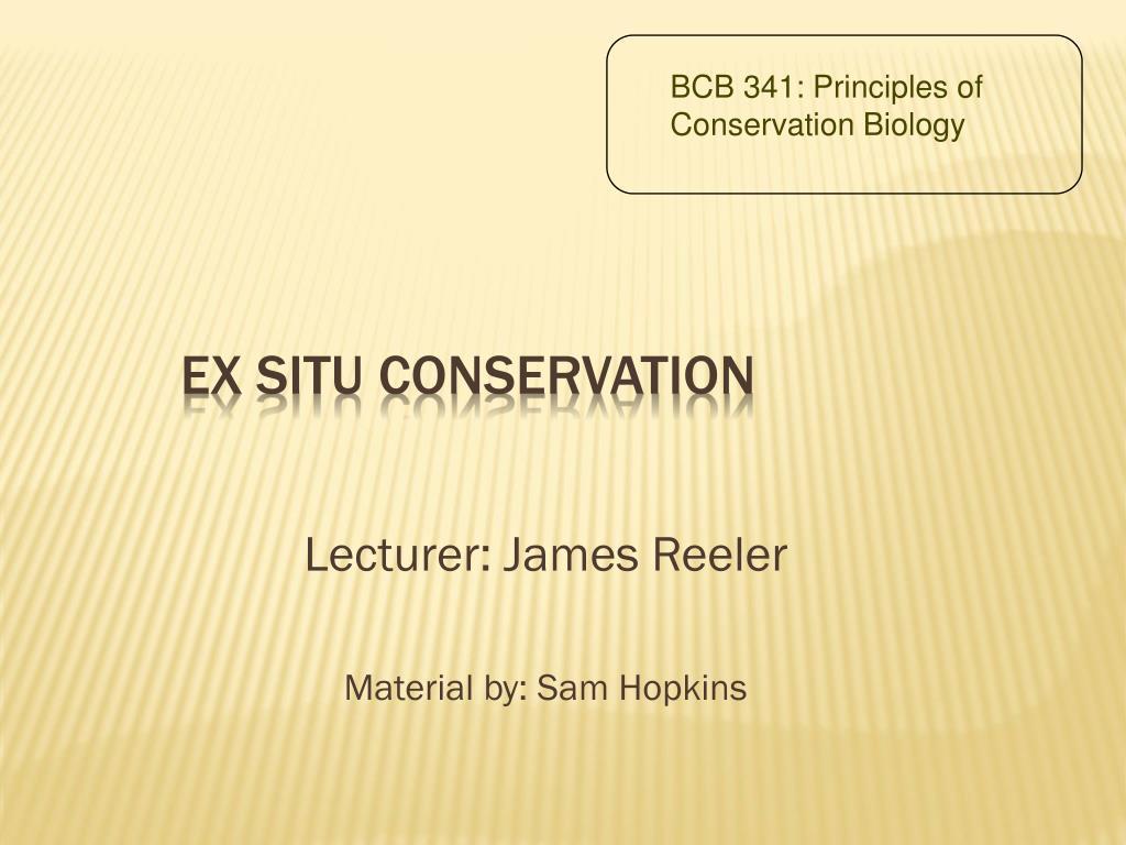 ex situ conservation l.