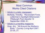 most common works cited citations1