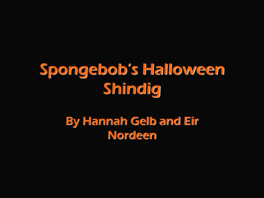 spongebob s halloween shindig l.