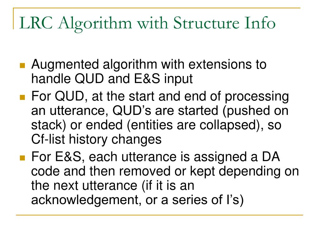LRC Algorithm with Structure Info