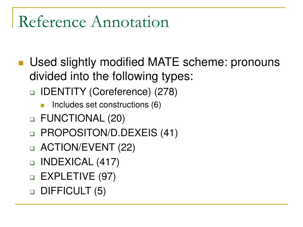 Reference Annotation