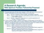a research agenda nae spencer postdoc fellowship proposal17