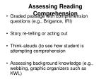assessing reading comprehension