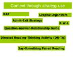 content through strategy use