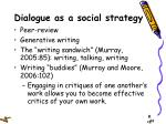 dialogue as a social strategy