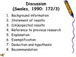 discussion swales 1990 172 3