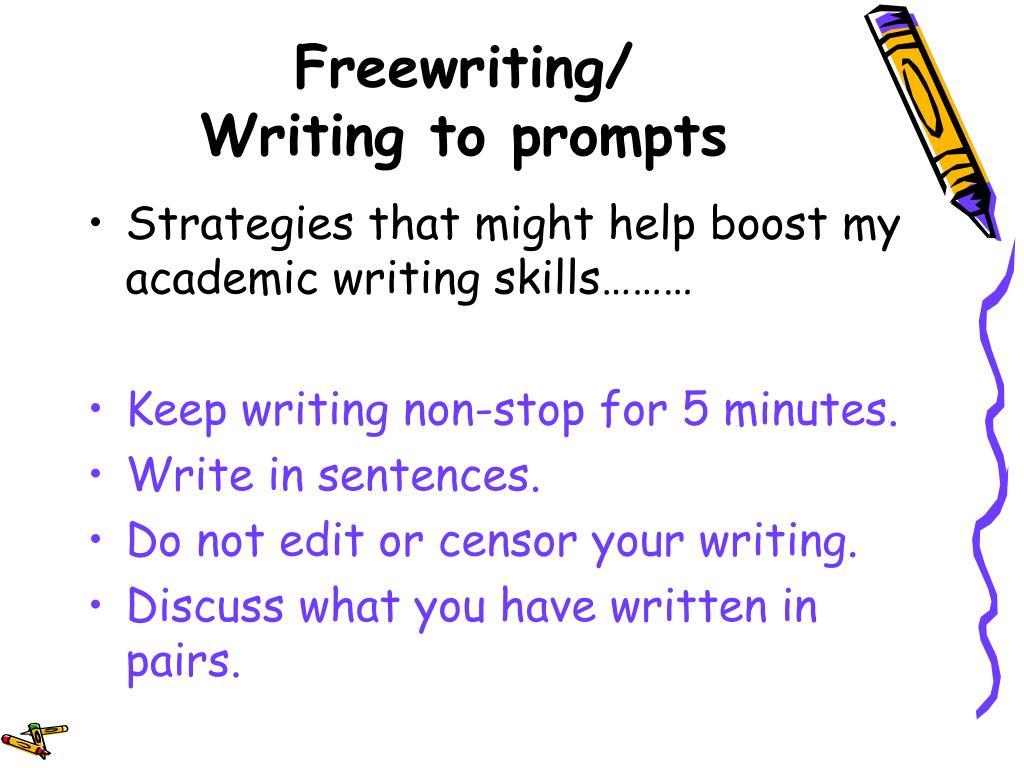 Freewriting/