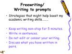 freewriting writing to prompts