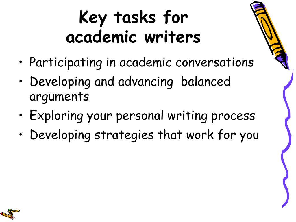 Key tasks for