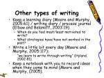 other types of writing