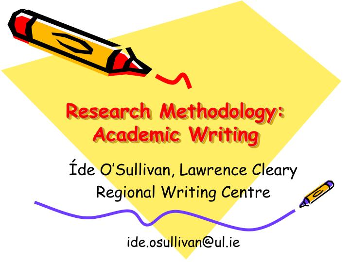 research methodology academic writing n.