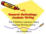 research methodology academic writing