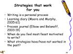 strategies that work for you