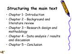 structuring the main text13
