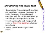 structuring the main text14