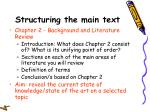 structuring the main text20