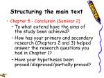 structuring the main text26