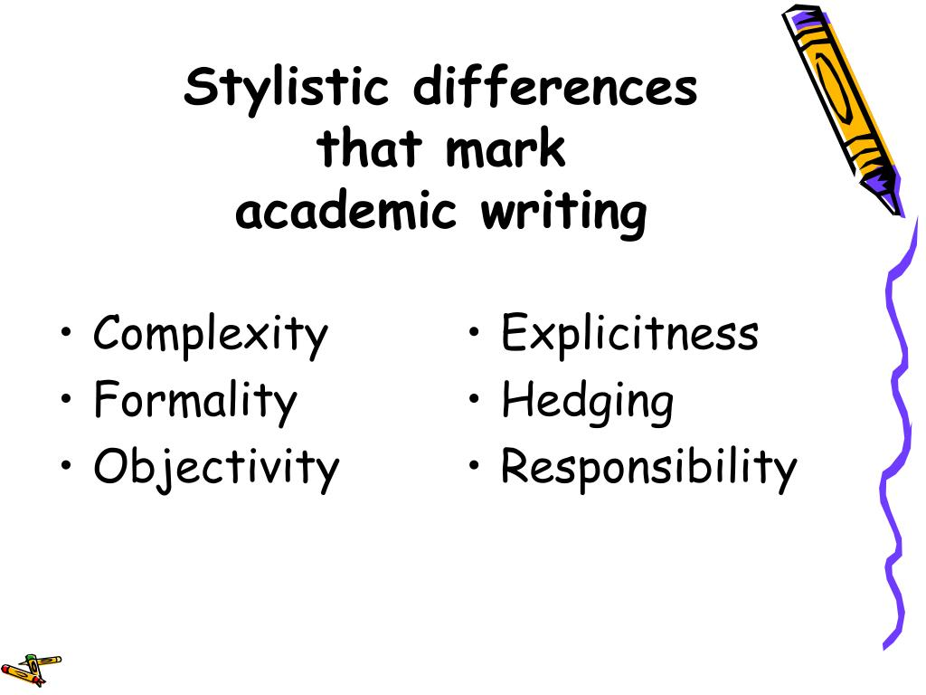 Stylistic differences