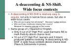 a deaccenting ns shift wide focus contexts