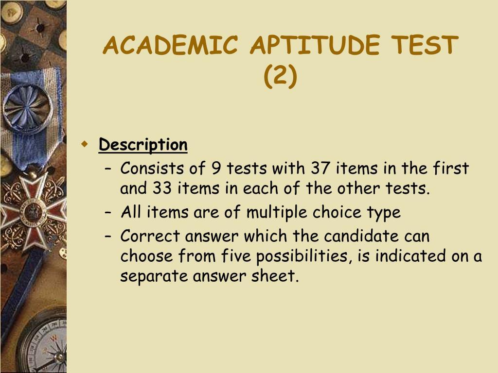 ACADEMIC APTITUDE TEST (2)