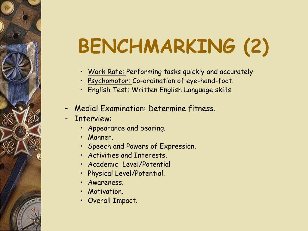 BENCHMARKING (2)