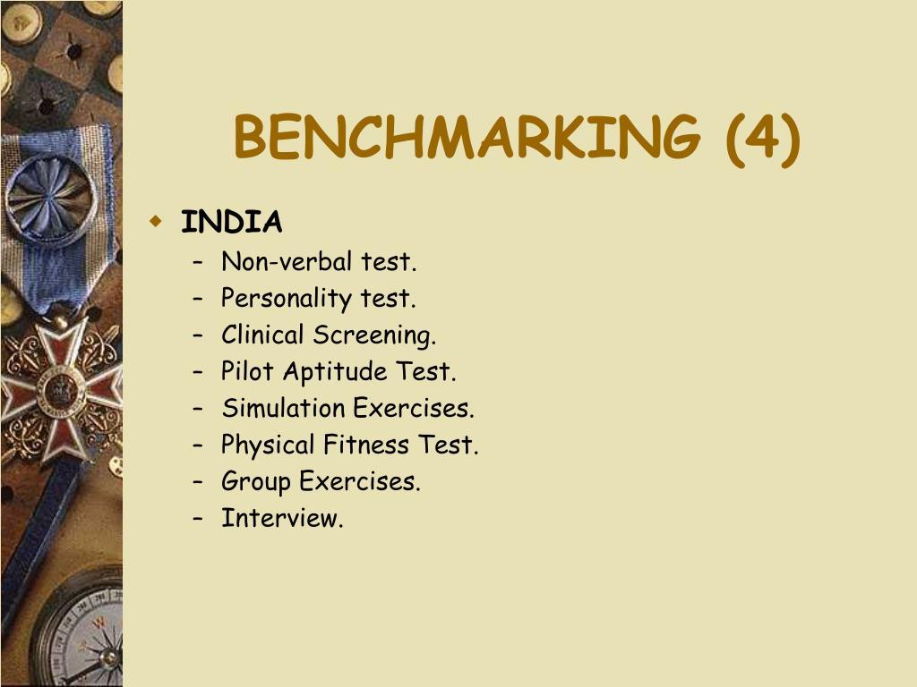BENCHMARKING (4)