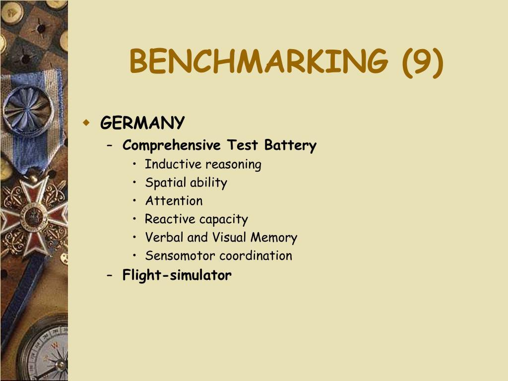 BENCHMARKING (9)