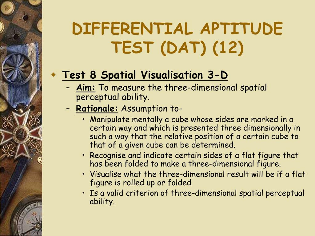DIFFERENTIAL APTITUDE TEST (DAT) (12)