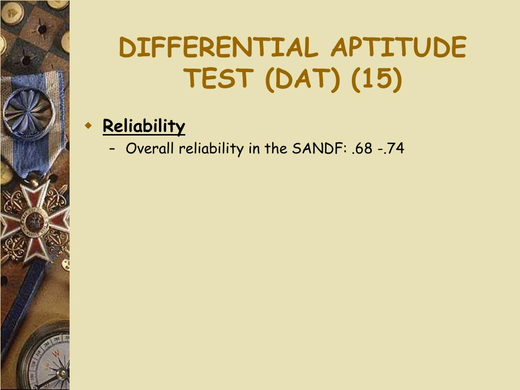 DIFFERENTIAL APTITUDE TEST (DAT) (15)