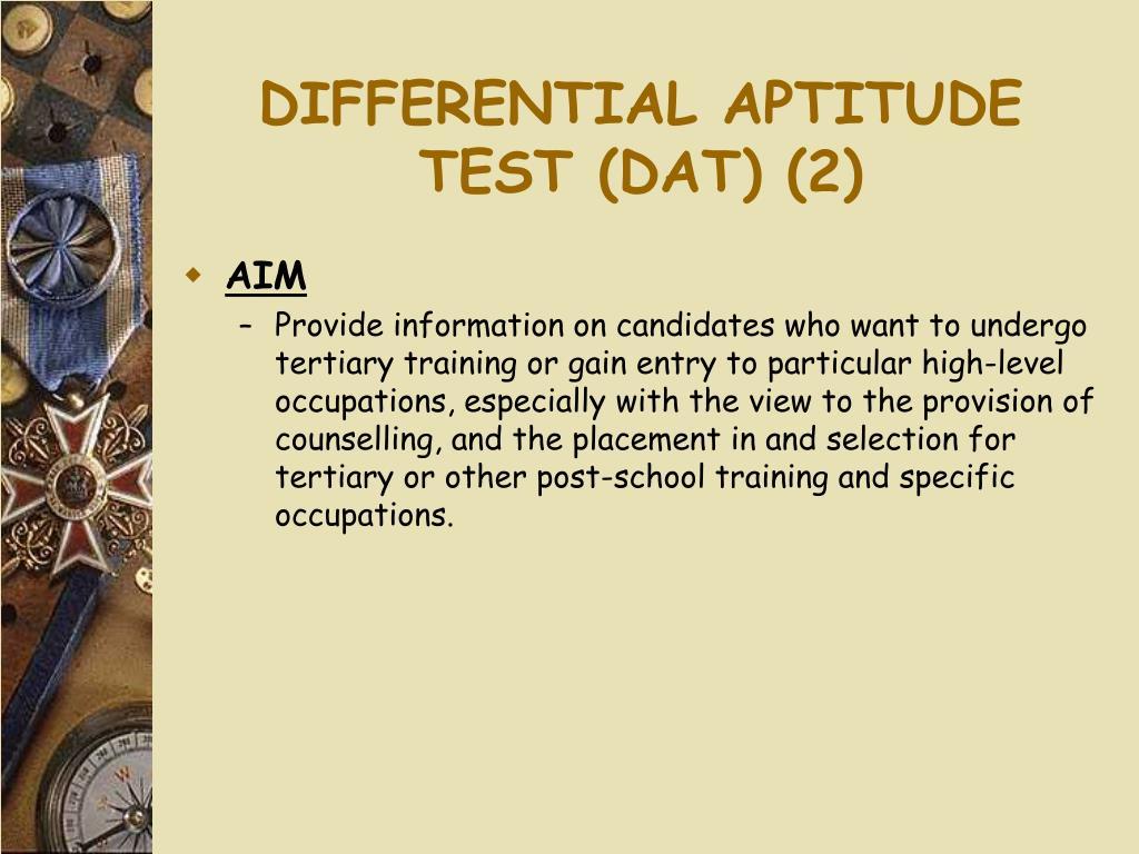 DIFFERENTIAL APTITUDE TEST (DAT) (2)
