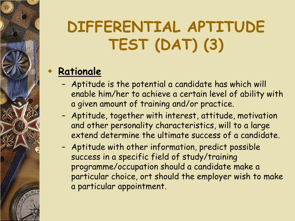 DIFFERENTIAL APTITUDE TEST (DAT) (3)