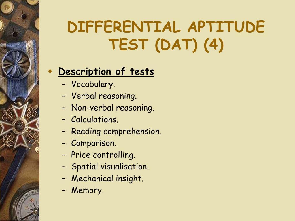 DIFFERENTIAL APTITUDE TEST (DAT) (4)
