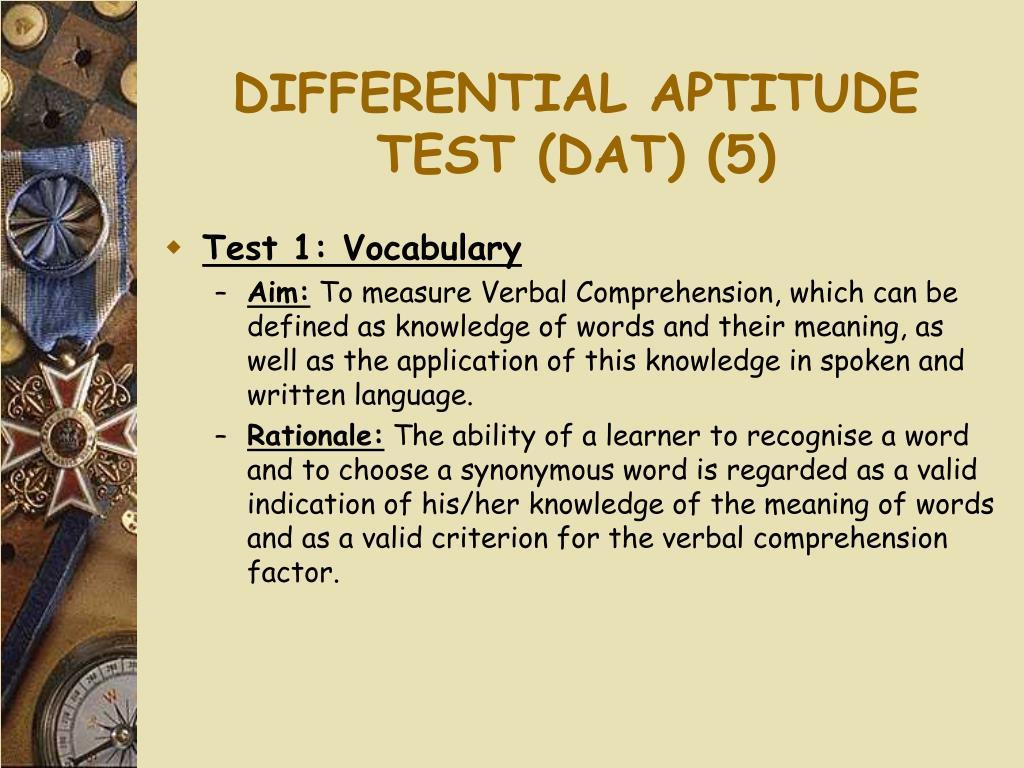 DIFFERENTIAL APTITUDE TEST (DAT) (5)