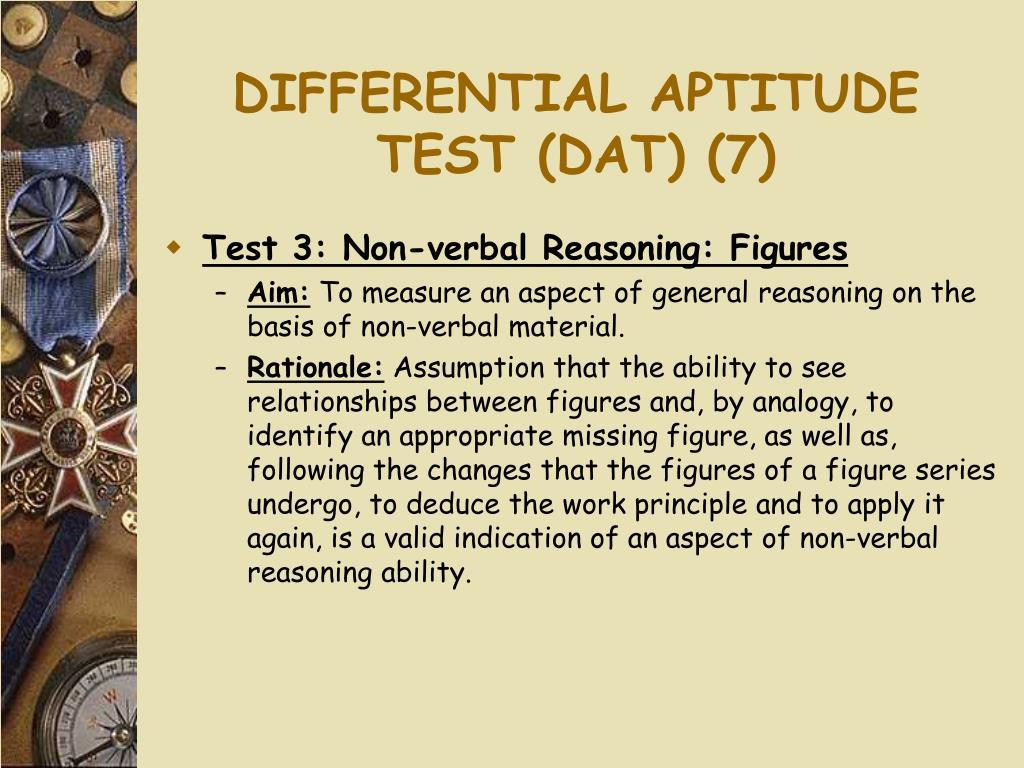 DIFFERENTIAL APTITUDE TEST (DAT) (7)