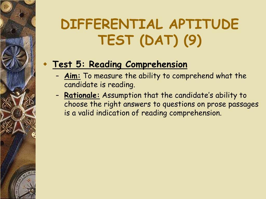 DIFFERENTIAL APTITUDE TEST (DAT) (9)