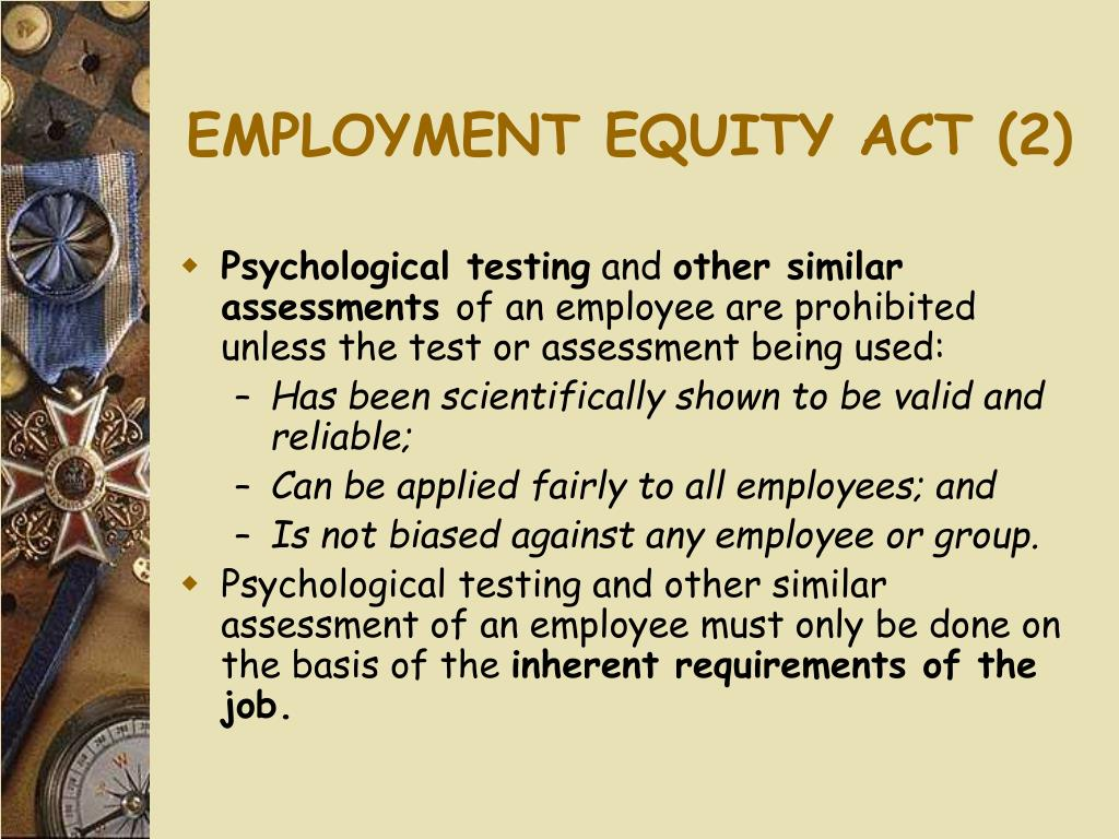 EMPLOYMENT EQUITY ACT (2)