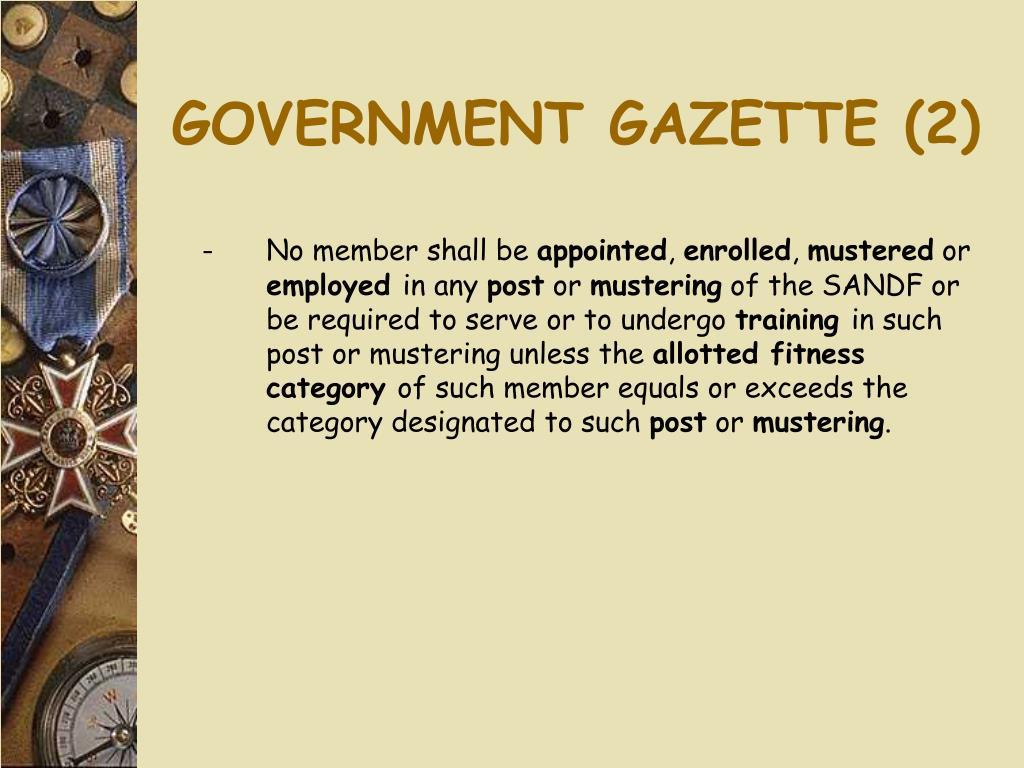 GOVERNMENT GAZETTE (2)