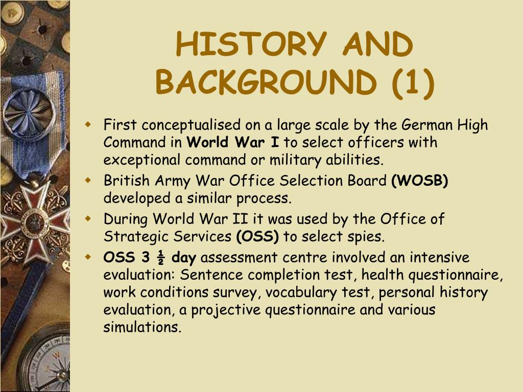 HISTORY AND BACKGROUND (1)