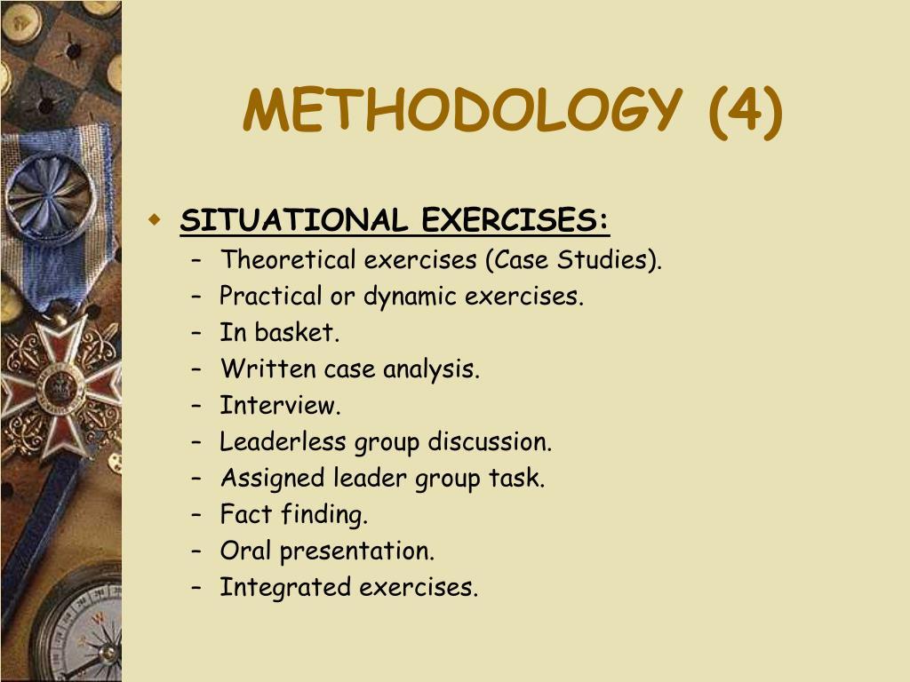 METHODOLOGY (4)