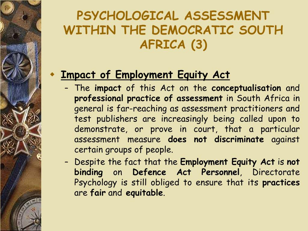 PSYCHOLOGICAL ASSESSMENT WITHIN THE DEMOCRATIC SOUTH AFRICA (3)