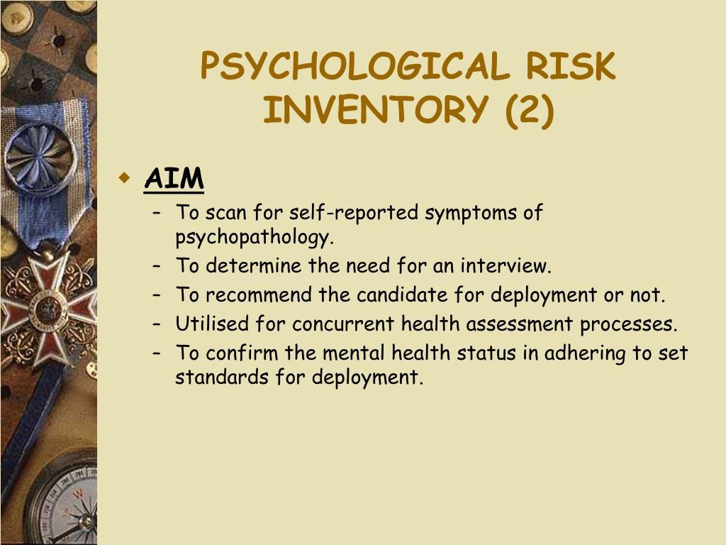 PSYCHOLOGICAL RISK INVENTORY (2)